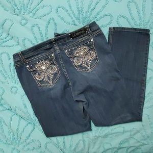 "LA Idol Bling Jeans size 19 41""x34"""